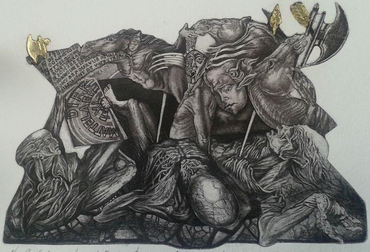 Le dit des trois vifs et trois morts, C3/Gold Leaf, 2014